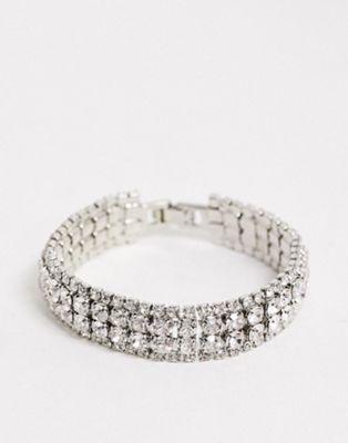 True Decadence - Brede armband met dubbele rij kristallen