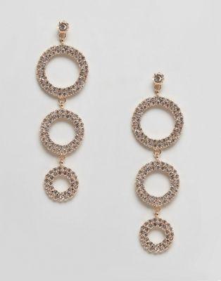 True Decadence - Oorhangers met ringen met diamantjes