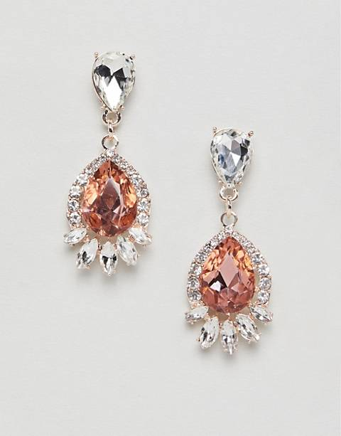 True Decadence - Pendants d'oreilles ornés de strass - Rose