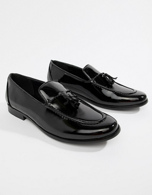 Image 1 of Truffle Collection Patent Tassel Loafer in Black Patent