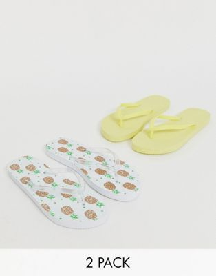 Image 1 of Truffle Collection two pack flip flops