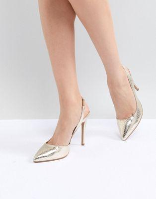 Изображение 1 из Туфли на каблуке с острым носком и ремешком на пятке ASOS DESIGN Prefect