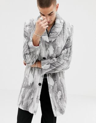 Twisted Tailor faux fur smart coat