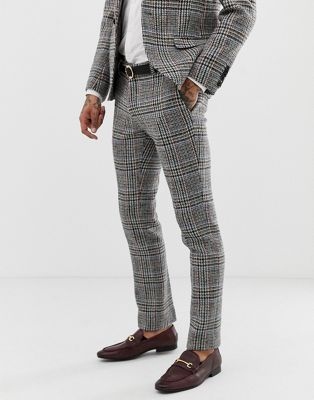 Twisted Tailor super skinny suit pants in harris tweed