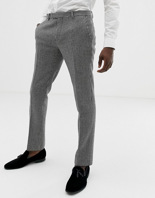 Image 1 of Twisted Tailor super skinny suit pants in houndstooth