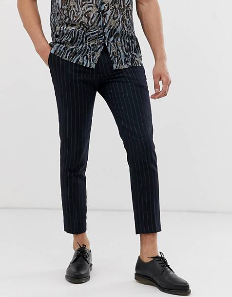 2f16438cb47d Twisted Tailor tapered cropped trousers in neon pinstripe