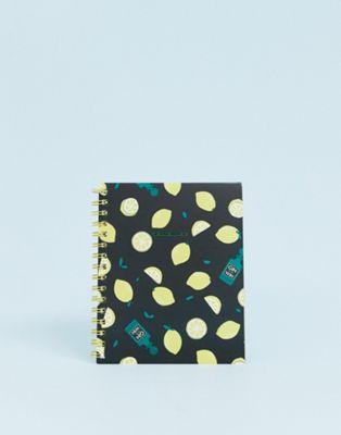 Typo – A5-Notizbuch mit Zitronendesign