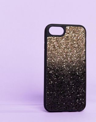 Typo Gold Ombre Sequin iPhone 6/6S/7/8 Case