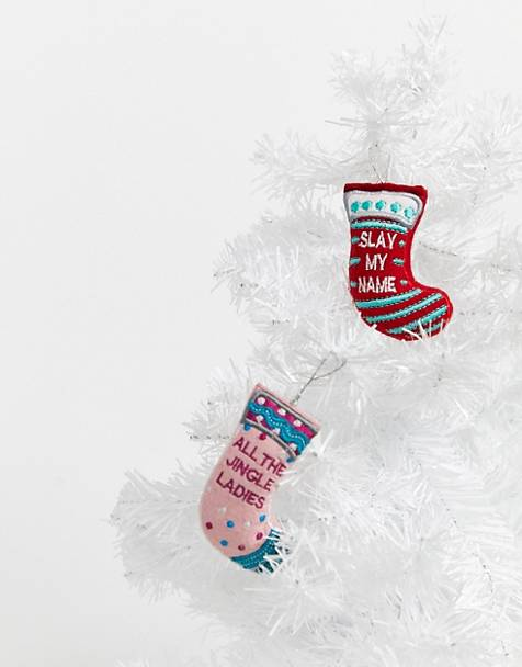 Typo stocking decorations - set of 2