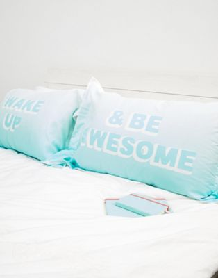 Typo - Wake Up and Be Awesome - Parure de taies d'oreiller