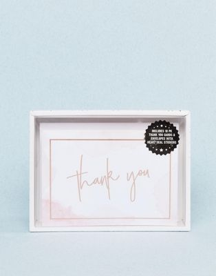 Typo Wedding Thank You Cards 10pk Water Colours