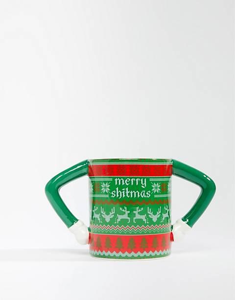 Typo xmas sweater mug