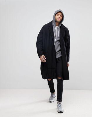 Удлиненное стеганое легкое пальто ASOS