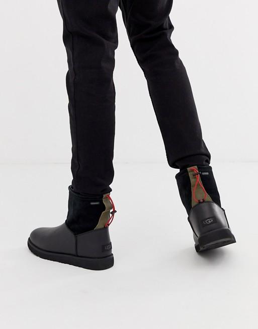 Ugg Australia – Czarne buty ze ściągaczem