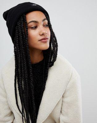 UGG - Bonnet oversize à revers - Noir