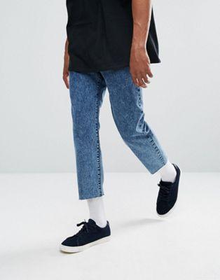 Укороченные темные джинсы с эффектом кислотной стирки Dr Denim Otis