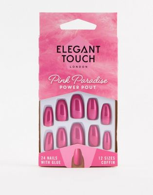 Uñas postizas Pink Paradise de Elegant Touch - Power Pout