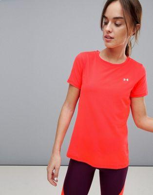 Under Armour – Heatgear – T-shirt i neon