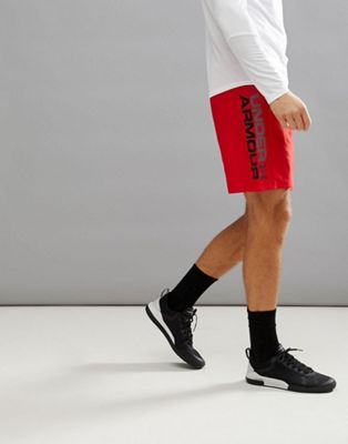 Under Armour Training Woven Graphic Shorts In Red 1320203-600