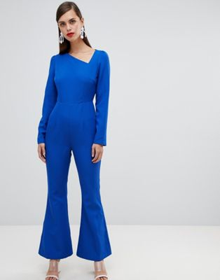 Unique 21 assymetric long sleeve jumpsuit