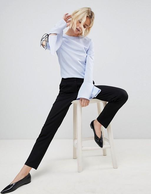 Image 1 of Unique 21 Black Strech Tailored Pant