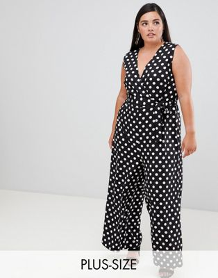 Unique 21 Hero polka dot v neck jumpsuit