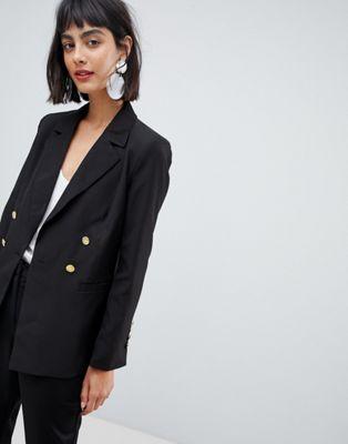 Unique 21 - Jersey blazer met goudkleurige knopen
