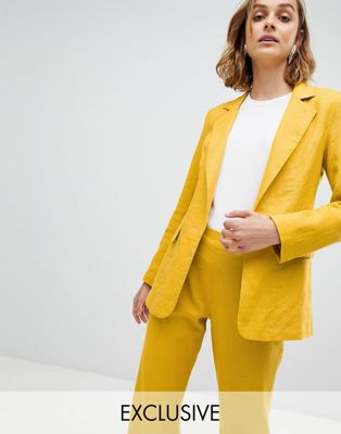 Unique 21 linen blazer co-ord