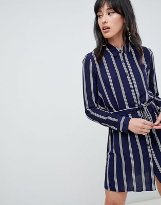 Image 1 of Unique 21 stripe tie waist dress