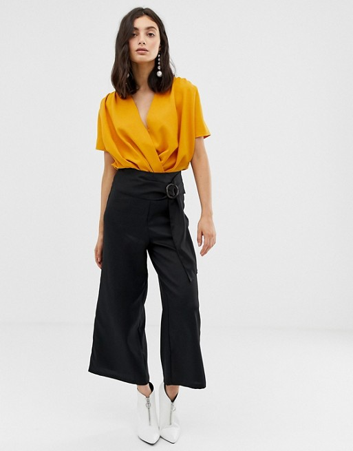 Image 1 of Unique21 flared culotte with belt buckle