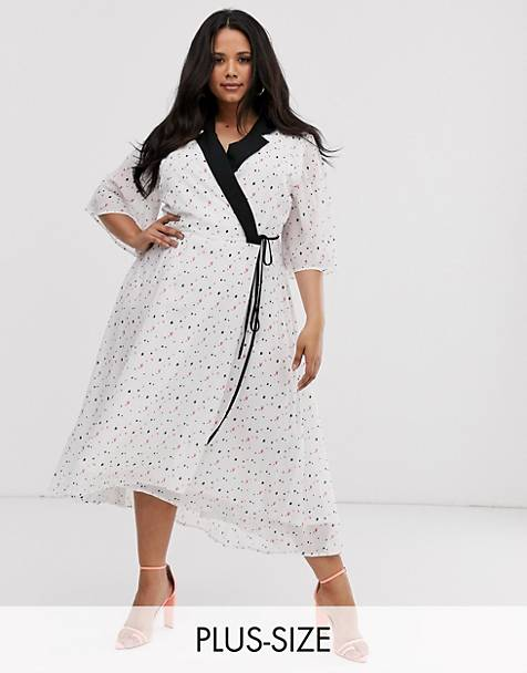 Unique21 Hero mixed heart print tailored wrap dress