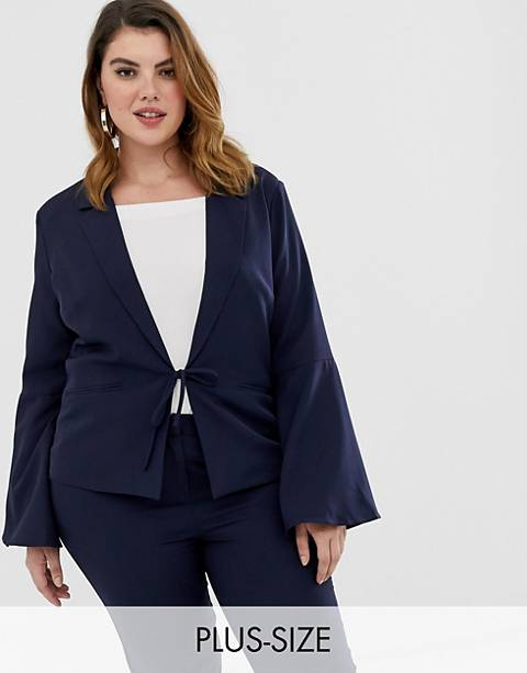 Unique21 Hero tailored tie blazer with flute sleeves