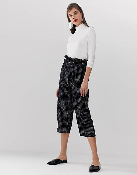 Unique21 polka dot pants with belt