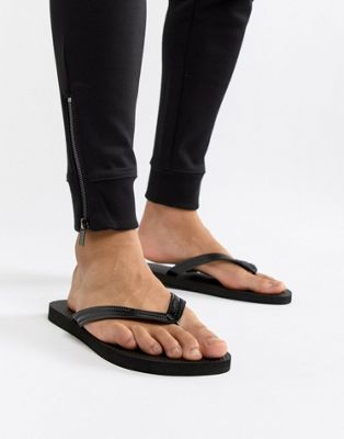 United Colors of Benetton Flip Flops In Black