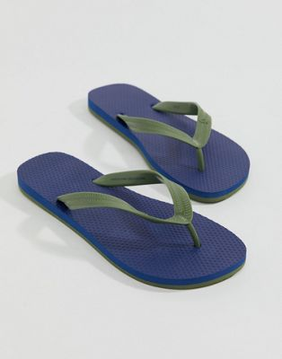United Colors of Benetton Flip Flops In Blue