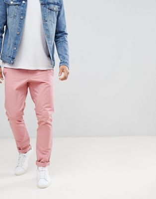United Colors of Benetton Slim Fit Chinos in Pink