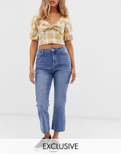Urban Bliss cropped kicked flare jeans