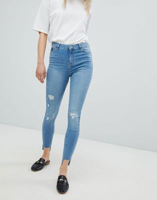 Urban Bliss Distressed Ripped Skinny Jean in Light Wash