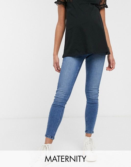 Urban Bliss – Maternity – Skinny jeans med synliga knappar