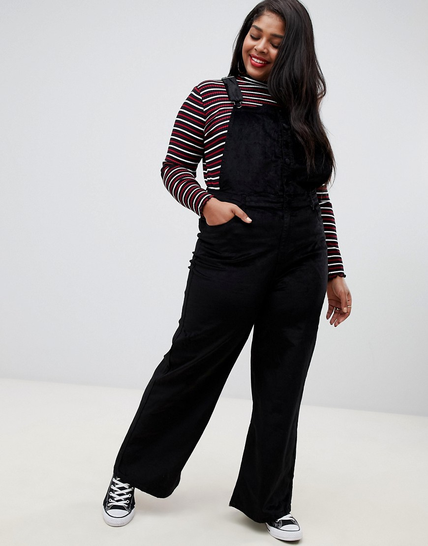Urban Bliss Plus Uncut Cord Kick Flare Overalls by Asos Brand