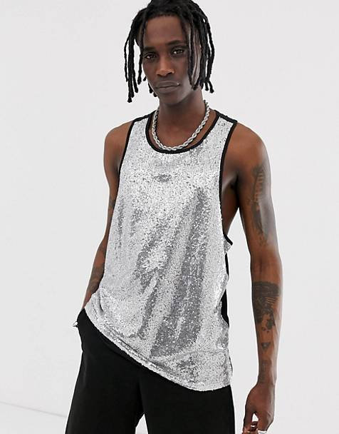 Urban Threads festival irridescent sequin tank