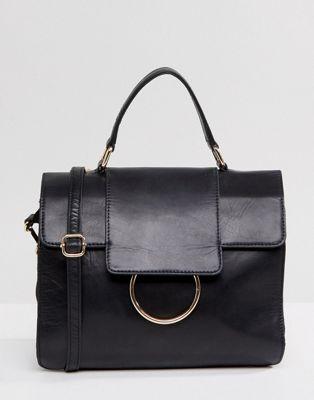 Urbancode Large Foldover Messenger Bag with Ring Detail