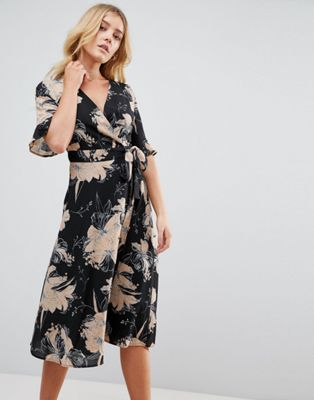 Uttam Boutique Flower Print Wrap Dress