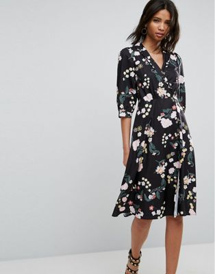 Uttam Boutique Flower Wrap Dress