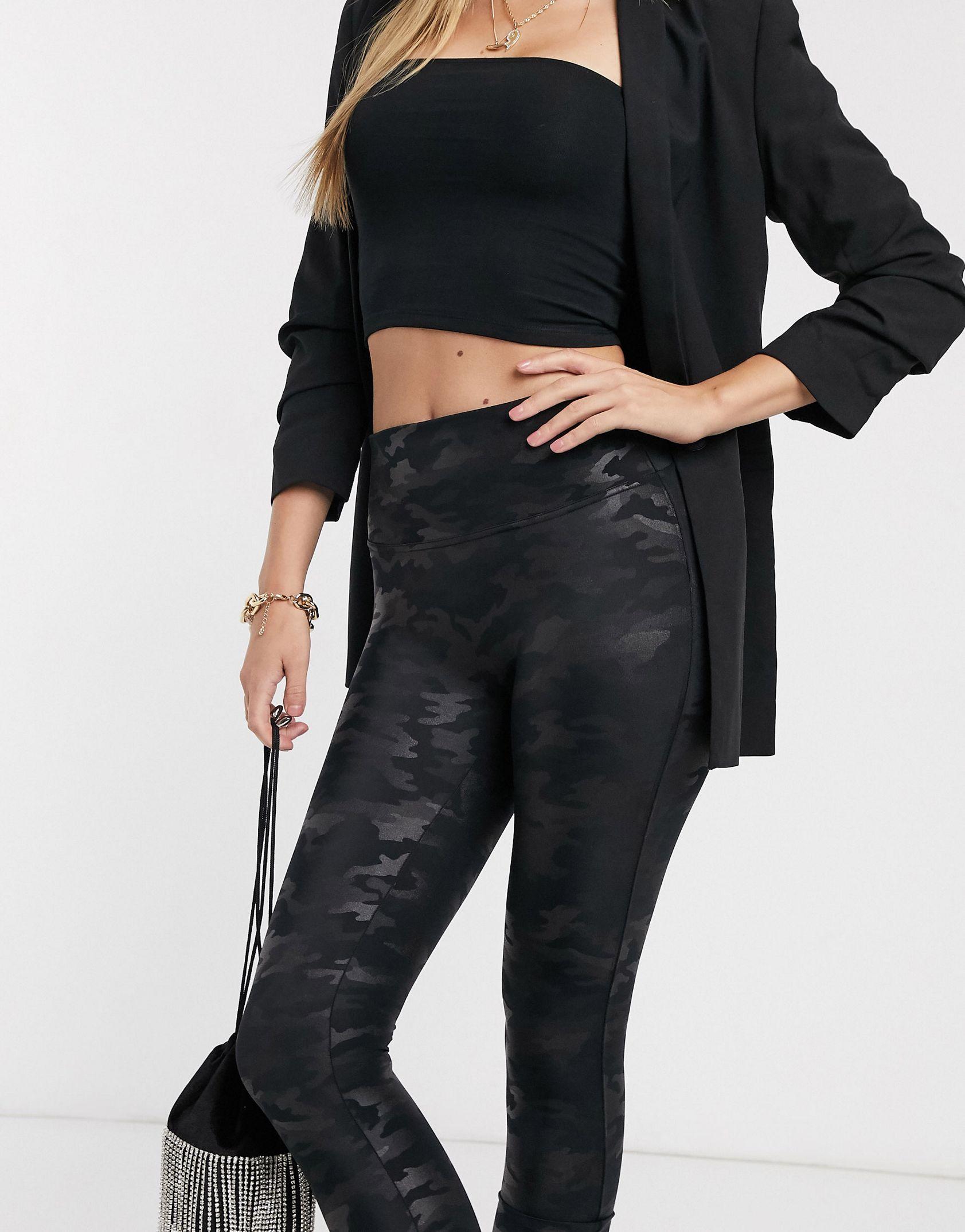 Spanx Slim Built In contoured Power Waistband tummy shaping camo legging -  Price Checker