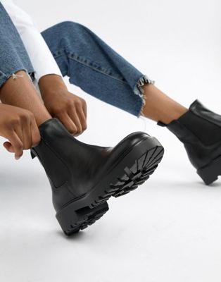 Vagabond – Kenova – Schwere Chelsea Boots aus schwarzem Leder