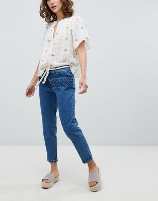Vanessa Bruno Embroidered Cropped Jeans