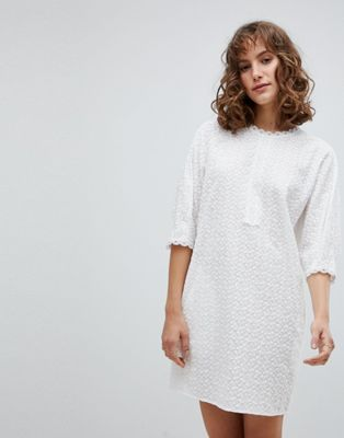 Vanessa Bruno Shift Dress in Broderie Anglaise