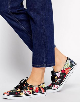 Image 1 of Vans Authentic Lo Pro Floral Trainers