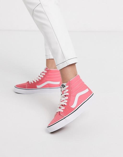 Vans Authentic - SK8-Hoge schoenen in roze en echt wit